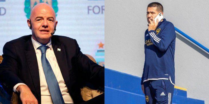 Gianni Infantino se reunió con Juan Román Riquelme