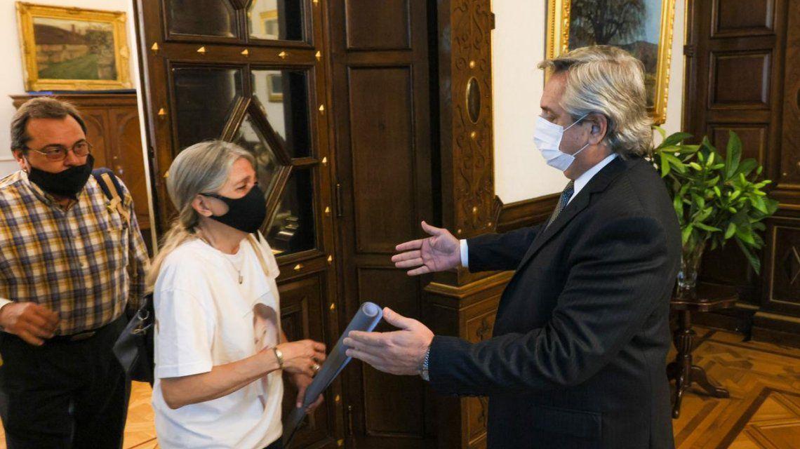 Alberto Fernández recibió a los padres de Úrsula Bahillo, la chica de Rojas víctima de femicidio