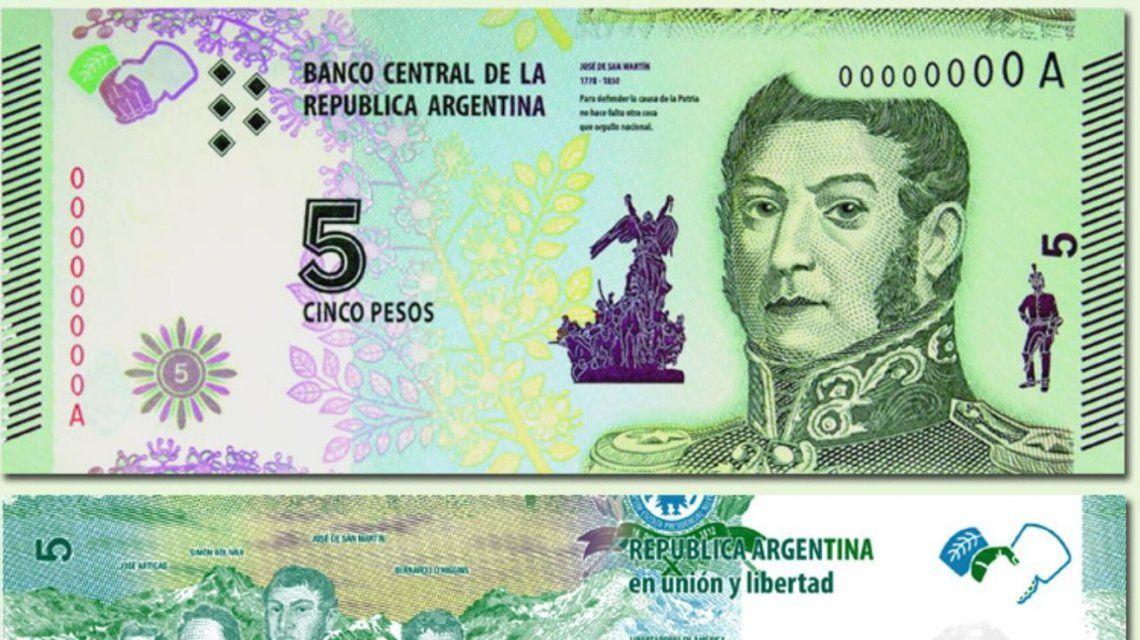 los-billetes-5-pesos-el-rostro-san-martin-se-podran-canjear-agosto-2021