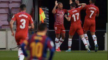 el gol de lionel messi no alcanzo: barcelona cayo con granada